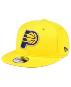 New Era Indiana Pacers Solid Alternate 9FIFTY Snapback Cap - Gold Adjustable
