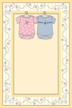 Twin boy and girl template Invitation Baby Shower, Baby Shower Clipart, Baby Shower Templates, Imprimibles Baby Shower, Baby Shower Invitaciones, Scrapbook Bebe, Baby Frame, Baby Girl Pictures, Baby Shawer