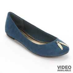 LC Lauren Conrad teal flats. Not sure about the leaves charms.