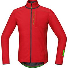GORE BIKE WEAR Mens Mountain bike thermo jersey Long sleeves GORE Selected Fabrics POWER TRAIL Thermo Size L Red SPOWET -- More info could be found at the image url.