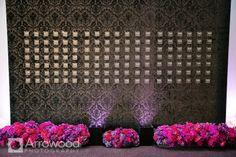 #MichaelDaigianDesign #wedding #escortcards #escortcardarrangements #weddinguplighting #escortcarddisplay #purpleweddings #purpleandpinkweddings #glam #crystals #stregishotel #sanfranciscowedding #peonies #gardenroses #purpleprincegardenroses #anenomes #orchids #hydrangea #lavishwedding