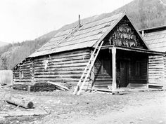 Chinese Miners' Quarters at Quesnelle Forks Photograph Album, Historical Photos, British Columbia, Archive, Chinese, Forks, History, Architecture, House Styles
