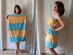 Tube Dress from XXXL shirt tutorial. This blog makes me want a sewing machine!