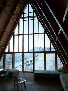 07 Baita, interpretazione contemporanea. Designed by Santiago studio DRAA: Chilean sky resort