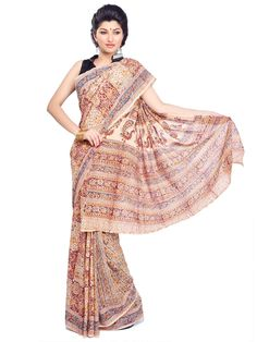 #Kalamkari Handmade  Cotton #Saree With Indian Handloom Mark   #cottonsaree #indiansaree #desingersaree #craftshopsindia