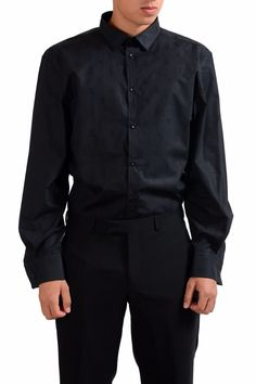 Black dress shirt mens 100