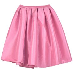 Choies Pink Pleated Skater Skirt (63 BRL) ❤ liked on Polyvore featuring skirts, choies, pink, pink skirt, flared skirt, pink circle skirt, pink knee length skirt and pleated skirt