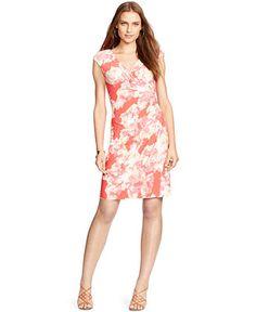 Lauren Ralph Lauren Floral-Print Surplice Dress - Dresses - Women - Macy's