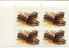 Пчёлы 35 копеек, двойная печать рисунка, квартблок