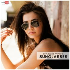 Buy Branded #SuperDeals #Aviator #Sunglasses for Men & #Women at lowest prices from #CubiShop