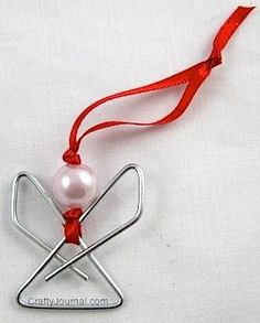 How cute are these angel ornaments made from paperclips?  Love! ( tutorial)