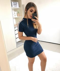 Very hot! - Gorgeous sporty dress… Very hot! Simple Outfits, Pretty Outfits, Sexy Outfits, Sexy Dresses, Cute Dresses, Casual Dresses, Summer Outfits, Casual Outfits, Cute Outfits