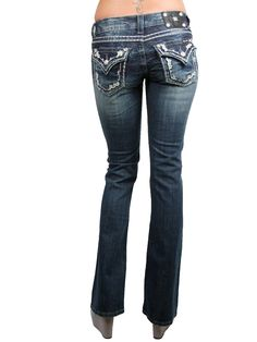 Miss Me Jeans - Imperial white border bootcut $103