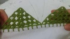 Bico de crochê carreira única #115  para panos de prato ou toalhas