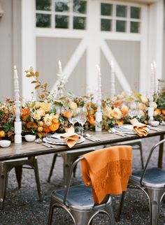 La Tavola Fine Linen Rental: Dupionique Iridescence Saffron Napkins   Photography: Sylvie Gil Photography, Event Planning: Kate Siegel Fine Events, Floral Design: Max Gill, Rentals: Bright Event Rentals and Theoni Collection, Tabletop Rentals: The ARK