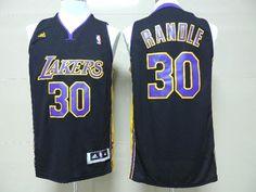 Adidas NBA 2014 New Los Angeles Lakers 30 Julius Randle New Revolution 30 Swingman Black Jersey