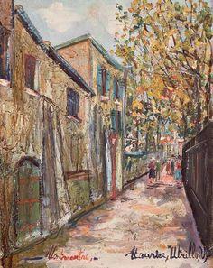 La rue Saint Vincent à Montmartre, Maurice Utrillo. (1883 - 1955)