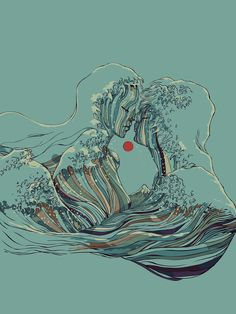 ART PRINTS BY HUEBUCKET Kissing The Wave Ocean of love BREATHE DEEPLY Sunset The Wave of Love Also available as canvas prints T-shirts All over print shirts Phone cases Throw pillows Tapestries and More! h/t: BESTOFSOCIETY6