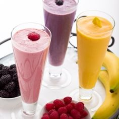 Healthy and easy, fruit and protein smoothies make a nutrition packed breakfast.