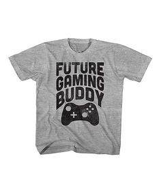 Gray 'Future Gaming Buddy' Tee - Toddler & Kids