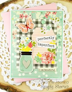 Perfectly Imperfect by akeptlife - at Splitcoaststampers Simple Stories I AM collection Scrapbooking, Scrapbook Paper Crafts, Scrapbook Layouts, Mail Art Envelopes, Shabby Chic Cards, Simple Stories, Pretty Cards, Paper Cards, Cardmaking