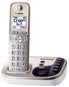 Panasonic KX-TGD220N DECT 6.0 Expandable Digital Cordless Answering System (Certified Refurbished)