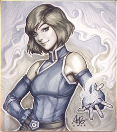 Korra Season 4 Original by Artgerm.deviantart.com on @deviantART I look forward to the day she can smile like that again.