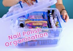 An easy, portable, and inexpensive way to store your nail polish collection! Link to the stackable container in the blog!
