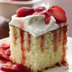 TIP: Pour syrup slowly over cake, allowing syrup to fill holes in cake.