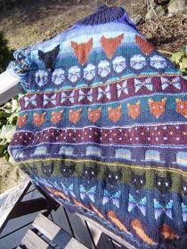 Sirkka Könönen -Pikku kettu Color Inspiration, Scandinavian, Knit Crochet, Textiles, Colours, Blanket, Knitting, Pattern, Finland