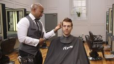 In the first of his video tutorials for The Mayfair Barber Youtube series, Chris Foster demonstrates a classic men's haircut