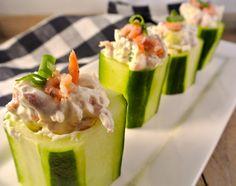 Healthy and delicious shrimp salad... garnalen borrelhapjes
