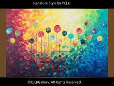 Custom painting for patrick-Abstract Painting by QiQiGallery