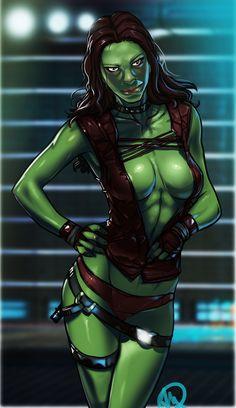 rule34world:  Gamora (Guardians of the Galaxy) [Artist: Ganassa]http://therule34.net