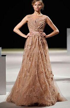 Cool Elie Saab brown wedding gowns