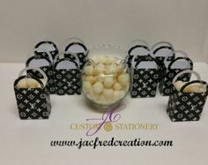 Name brand Designer Inspired purse favor by Jacfredcreation
