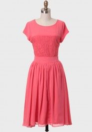 she sells seashells indie dress in coral