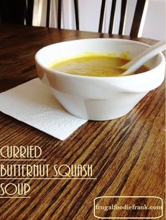 Easy Curried Butternut Squash Soup Recipe