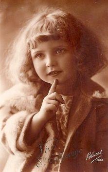 Sweet Little Girl ~ 1920s postcard