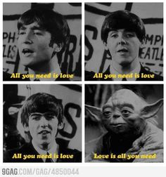 All you need is love.