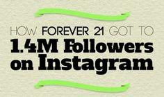 How Forever 21 got to 1.4M followers on Instagram. Book Instagram, Instagram Tips, Instagram Accounts, Social Media Training, Social Media Tips, Social Networks, More Instagram Followers, Web Design, Instagram Marketing Tips