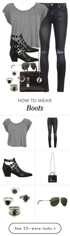 """""""Style #10545"""" by vany-alvarado on Polyvore featuring RtA, Yves Saint Laurent, Fendi and Forever 21"""