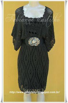 Vestido  Tabaco , Feito em Croch�