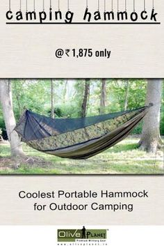The Hammock at Olive Planet is great for those who don't want go carry a Tent but want protection from insects It comes with Mosquito Netting Built Right Into The Overall product.     #campinghammock  #militaryhammockonline  #buyoutdoorhammock