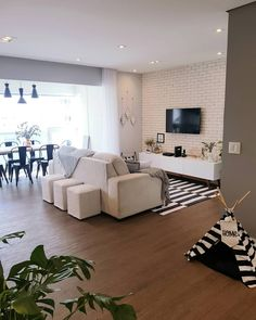 Condo Living, Home Living Room, Living Room Decor, Hall Design, Dining Room Design, Home Decor Furniture, Minimalist Home, Loft, House Design