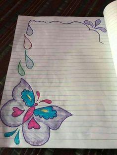 Frame Border Design, Boarder Designs, Page Borders Design, Border Embroidery Designs, File Decoration Ideas, Page Decoration, Front Page Design, Handmade Diary, Paper Art Design