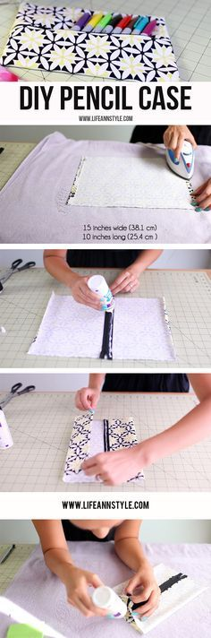 DIY Pencil Case & Makeup Pouch | Ann Le Style How to \ EASY  \ No Sew