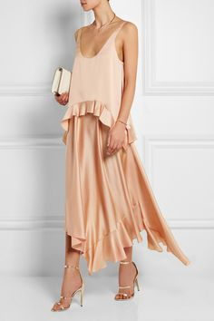 Stella McCartney | Robe en satin de soie à superpositions Yenna | NET-A-PORTER.COM