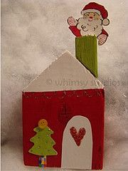 santa's house - imagine where santa lives and make his house from card and recycled materials - put him in the window or chimney