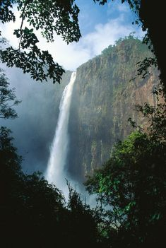 Wallaman falls is Australia's highest single-drop waterfall, Girringun National Park, Queensland.